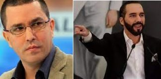 Nayib Bukele y Jorge Arreaza - Nayib Bukele y Jorge Arreaza