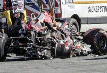Hamilton sacó a Verstappen de la pista