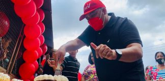 Ángel Fernández celebró su cumpleaños