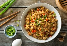 arroz frito con verduras salteadas - arroz frito con verduras salteadas
