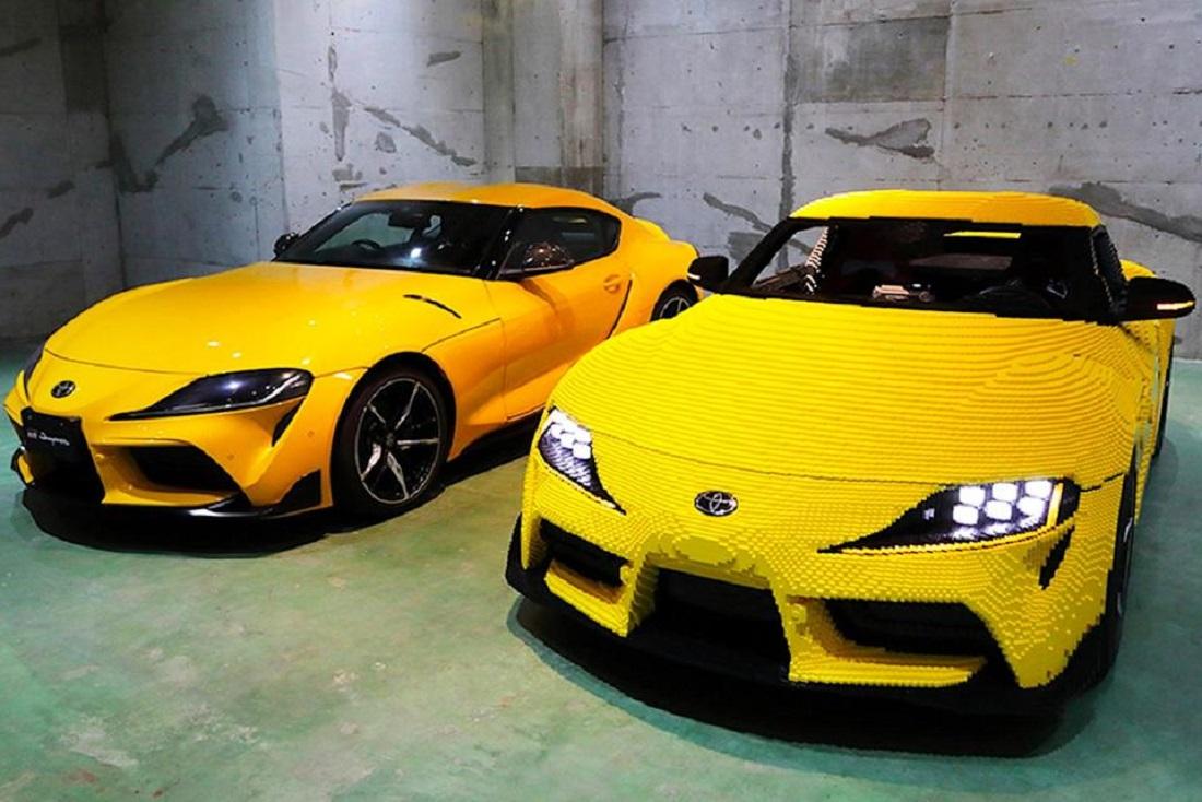 Con piezas de Lego un Toyota Supra - Con piezas de Lego un Toyota Supra