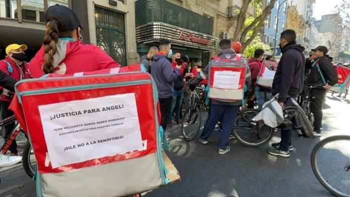 Repartidores venezolanos exigieron cese de xenofobia en Argentina