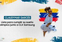 Claudymar Garcés junto a CLX