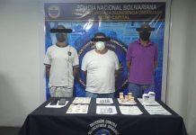 PNB detuvo a tres sujetos por posesión de cocaína en Tanaguarena