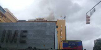 Incendio en la sede principal del Saime