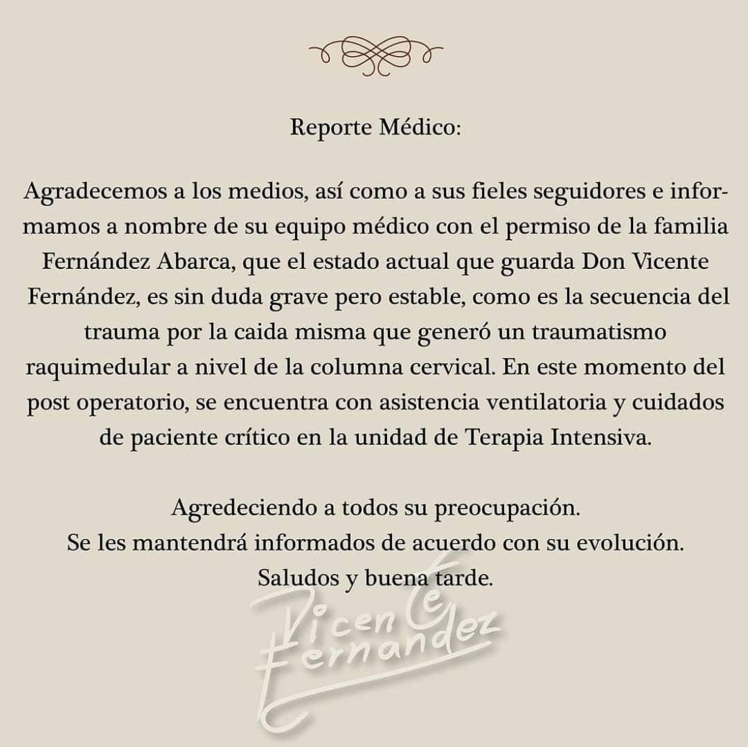 Vicente Fernández está grave - Vicente Fernández está grave