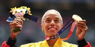 Juegos Olímpicos de Tokio 2020 Yulimar Rojas recibió su medalla de oro