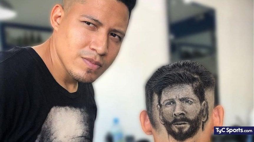 Barbero venezolano corte de cabello al estilo Messi - Barbero venezolano corte de cabello al estilo Messi