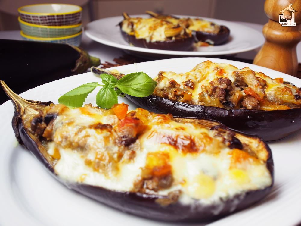 berenjenas rellenas de carne al horno - berenjenas rellenas de carne al horno