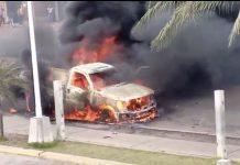 Explosión de camioneta en El Tigre