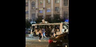 Explota autobús en la ciudad de Vorónezh