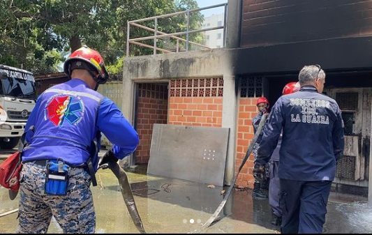 incendio en Estación de Bombeo Tacagua
