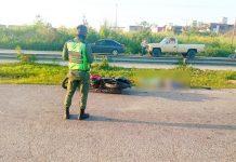 Motorizado falleció - Motorizado falleció