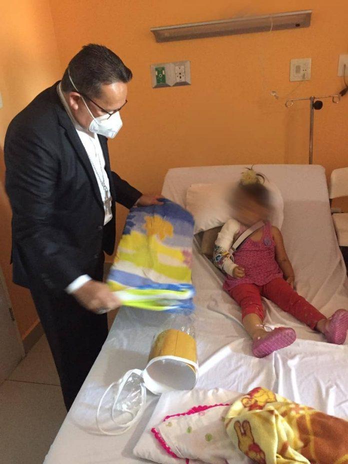 Rescatan a una niña de 2 años en Mérida