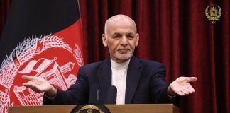 Presidente de Afganistán abandonó el país