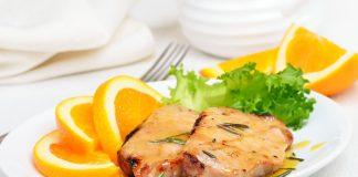 Chuletas de Cerdo con Salsa de Naranja