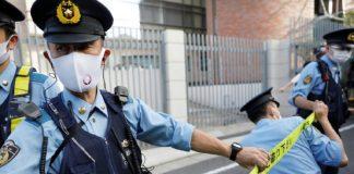 ataque con arma blanca Hombre detenido por atacar el vagón de un tren en Tokio