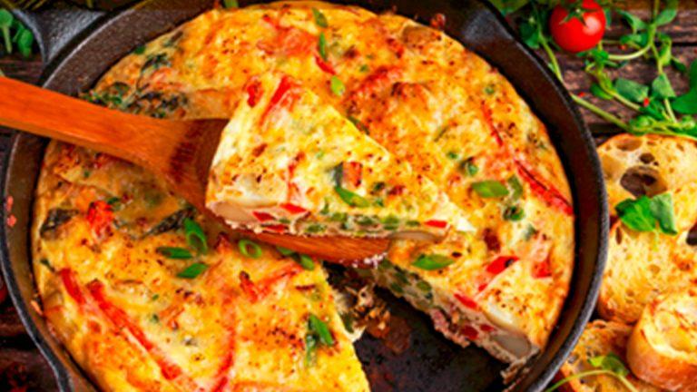 Para el desayuno una suculenta tortilla española