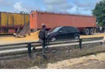 Accidente en la autopista Puerto Cabello