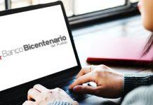 Plataforma del Banco Bicentenario en mantenimiento