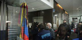 se desplomó un ascensorde la embajada de Venezuela