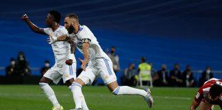 Vinicius y Karim Benzema guiaron al Real Madrid