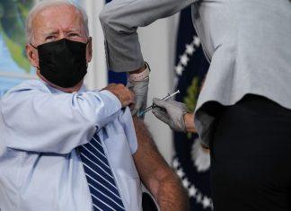 Joe Biden se colocó tercera dosis de la vacuna Pfizer
