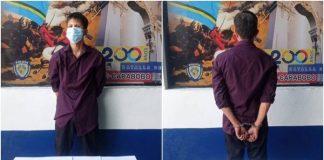 Detenido sujeto por intentar agredir a su madre con un machete en Naguanagua