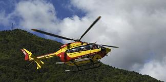 Helicóptero de seguridad civil se estrelló