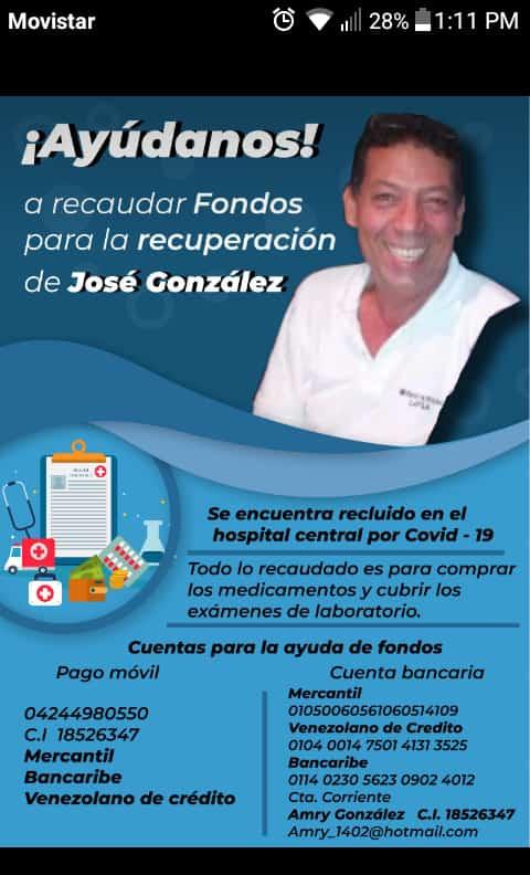 José González a superar el covid-19 - José González a superar el covid-19