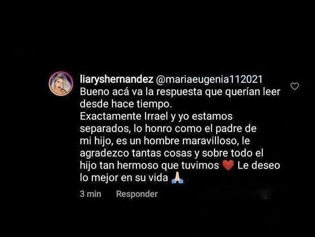 Irrael Gómez y Liarys Hernández se separan - Irrael Gómez y Liarys Hernández se separan