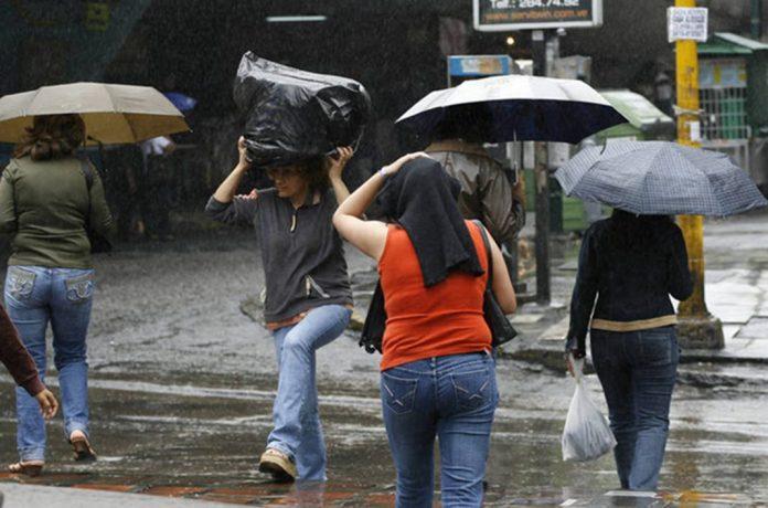 Inameh prevé para este domingo lluvias