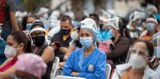 Incremento de contagios de Covid-19 en la Gran Caracas