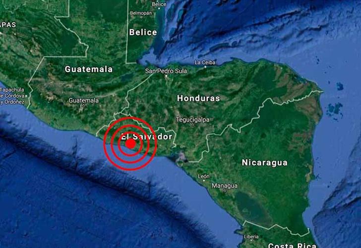 Reportan temblor de magnitud 5,3 en El Salvador