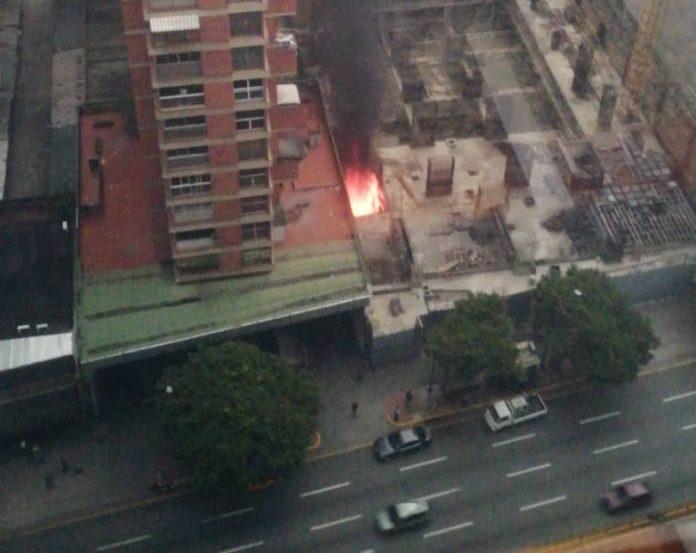 Se reportó un incendio en cercanías de la Magistratura