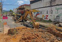 Inician sustitución de tuberías de aguas servidas