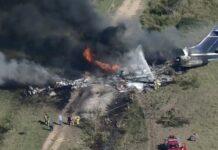 avión se estrella en Texas - avión se estrella en Texas
