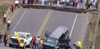 Derrumbe de un puente en Ecuador dejó tres heridos