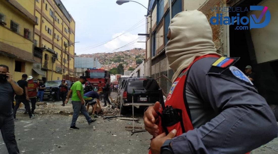 Diez heridos tras explosión en San Martín - Diez heridos tras explosión en San Martín