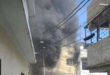 incendio en la parte baja de La Vega - incendio en la parte baja de La Vega