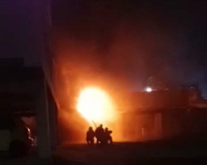 Incendio en el cuarto de transformadores
