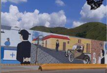 Mural de José Gregorio Hernández en Guacara - Mural de José Gregorio Hernández en Guacara