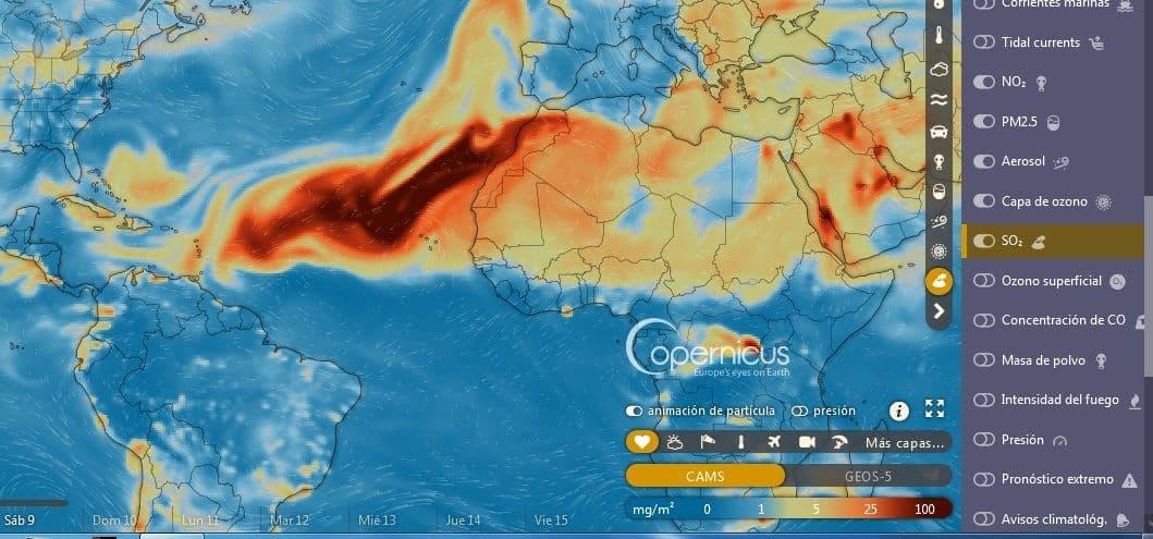 Nube de dióxido de azufre - Nube de dióxido de azufre